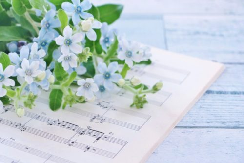 結婚式の余興に使用する譜面