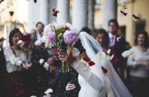 結婚式演出の様子